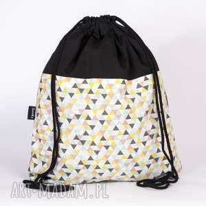 plecaki trójąty, torba, plecak, worek, trójkąty, unikalny prezent