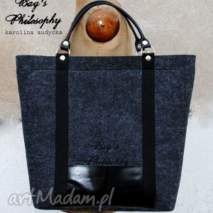 hand-made torebki tote classic black