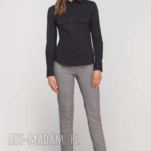 klasyczna koszula, k106 czarny, casual, elegancka, kołnierzyk, klasyczna, taliowana