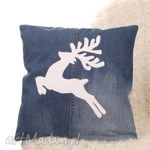 poduszki poszewka na poduszkę z jelonkiem, poduszka, poszewka, jelonek, renifer