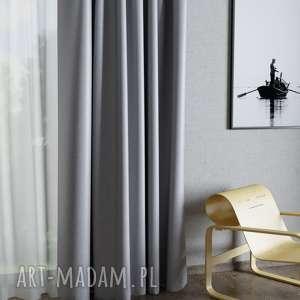 dekoracje zasłona elite dwustronna tkanina szary pastel, zasłona, zasłony