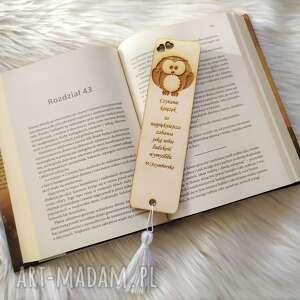 zakładka do książki, drewniana, grawerowana, zakładka, grawerowana