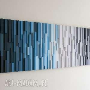 dekoracje mozaika 3d, obraz drewniany arktyka, wallart, mozaika, loft, modern