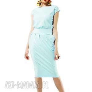 sukienka mono mint, sukienka, mono, miętowa, uniwersalna, do pracy, casualowa
