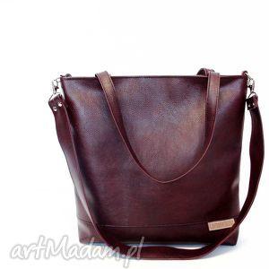 shopper bag, czekoladowa, brązowa, torba, modna, szyta, musthave, wyjątkowy prezent