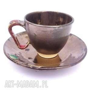 Jedyna - filiżanka z talerzykiem dom malgorzata wosik ceramika