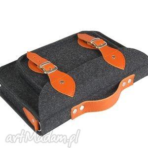 torebki 15 inch laptop macbook pro, pro retina - torba, felt, filc, leather, skóra