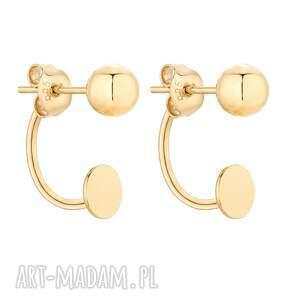 złote kolczyki z kulkami - eleganckie, zaucho, kulki gold