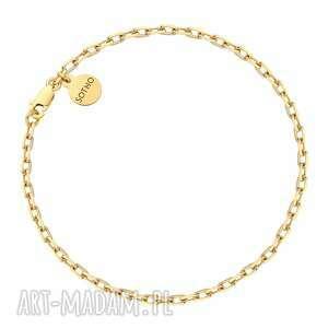 sotho złota masywna bransoletka na nogę - łańcuch summer