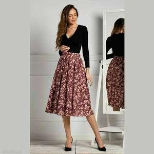 handmade spódnice spódnica iza total midi francis