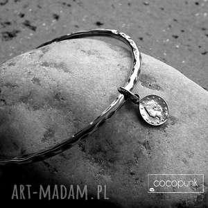 Bransoleta z monetką - srebro cocopunk srebrna, monetką