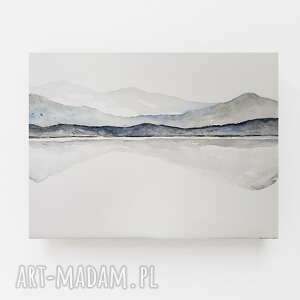 pejzaż-akwarela formatu 32/24 cm, akwarela, pejzaż, papier