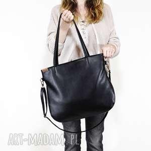 hand-made torebki pacco bag - torba na ramię z długim regulowanym, odpinanym paskiem