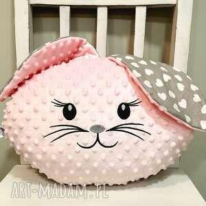 poduszka królik z uszami, ozdobna minky dla dziecka, krolik