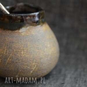 gliniane matero zrysowane, matero, yerba mate, rustykalne, eko, prezent