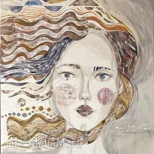 creo plakat a2 - dziewczyna na wietrze, plakat, wydruk, portret, kobieta