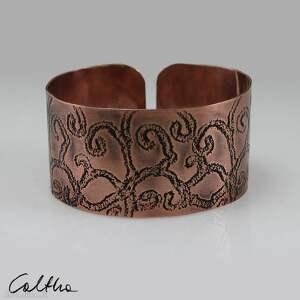 hand-made gałęzie - miedziana bransoleta 190111 -03