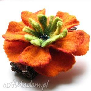 Prezent Broszka Kwiat, broszka, kwiat, filc, dodatki, prezent, biżuteria