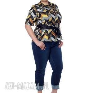 elegancka, ale z pazurem bluzka koszulowa, 100 bawełna, designerska, elegancka