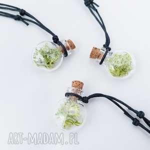 buteleczka wisiorek mech - ,wisior,naszyjnik,mech,las,leśne,skandynawskie,