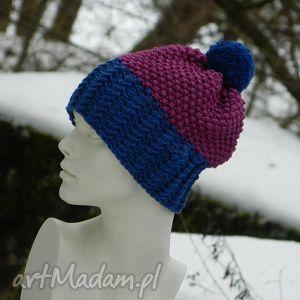 100% merino wool czapa pompon czapki aga made by hand merino