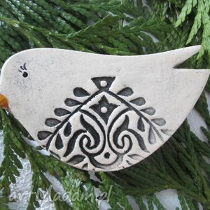 ceramika ana ptaszek, ceramiczny, ptak, folkowy, etniczny dom, oryginalne prezenty