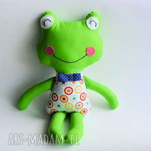 żabka - elegant filip 46 cm, żabka, gwiazda, roczek, chrzciny, chłopiec, maskotka