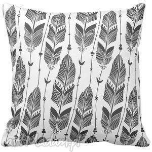 poduszki poduszka ozdobna dekoracyjna boho pióra 6533, ozdobna, boho
