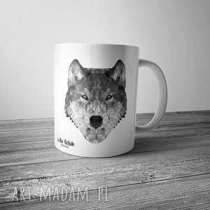 handmade kubki kubek z wilkiem