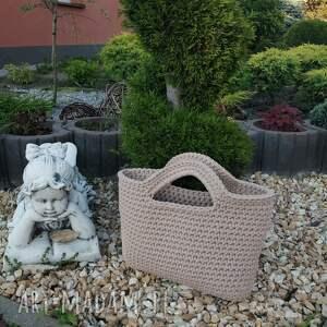 torba - koszyk ze sznurka bawełnianego 35cmx25cm, torebka do ręki