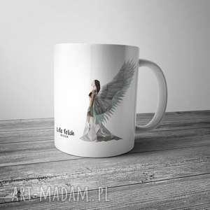 hand-made prezent kubek z aniołem