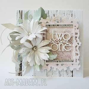 scrapbooking kartki ślubny szyk - w pudełku, ślub, życzenia, gratulacje
