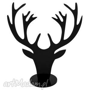 hand-made wieszaki czarny stojak na biżuterię jeleń