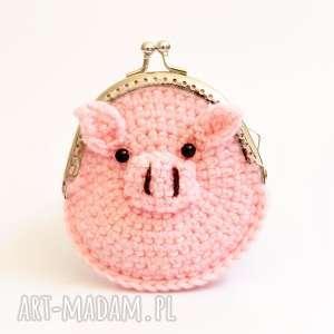 Portmonetka, portfel, świnka, portmonetka, szydełko, dziecko