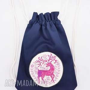 plecak worek z jelonkiem - ,plecak,worek,jeleń,jelonek,las,leśne,