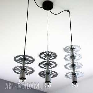 Prezent Potrójna Lampa Buttler, metalowa, industrialna, loft, prezent, rowerzysta,