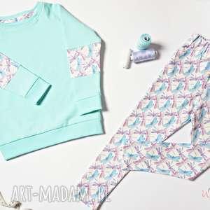 Komplet BLUZA LEGGINSY dla dziewczynki, rozmiar 110/116, bluza, legginsy, getry