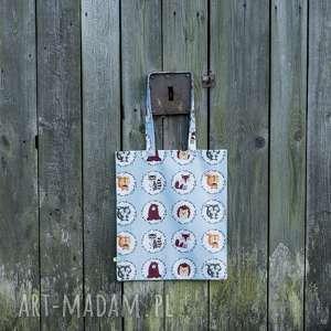 torba na zakupy leśne zwierzątka, bawełniana, eco, zakupy, eco