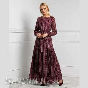 sukienki sukienka delia maxi federica grochy średnie, maxi