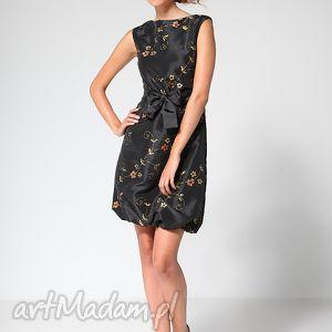 świąteczny prezent, black ball 44, sukienka, tafta, czerń, bombka