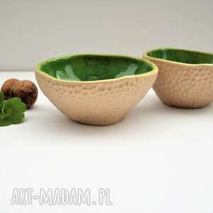 handmade ceramika miseczki ceramiczne fakturowane