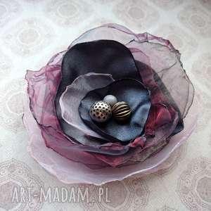 Moc fioletu broszki judithbijoux broszka, lekka, ozdoba, lato