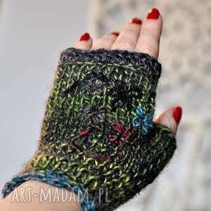 rękawiczki mitenki, rękawiczki, na dłonie, prezent, walentynkowy
