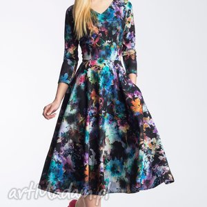 livia clue sukienka fler total midi azalia, midi, total, rozkloszowana, kieszenie