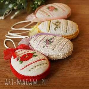 dekoracje pisanki zawieszki - 4 sztuki, pisanki, prezent, ozdoba