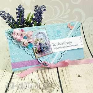 Kartka urodzinowa - studnia marzeń scrapbooking kartki shiraja
