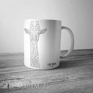 life fetish design kubek z żyrafą outline, żyrafa, linie