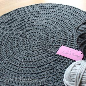 Dywan dark grey lucy and kucy dywan, dywanik, chodnik, sznurek