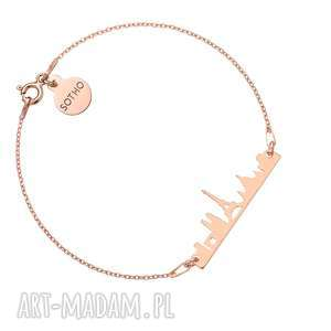 bransoletka z różowego złota paryż krajobraz, francja
