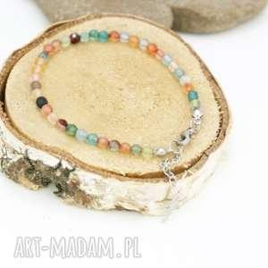 bransoletka agat w stali szlachetnej, bransoletka, koral, stal, szlachetna